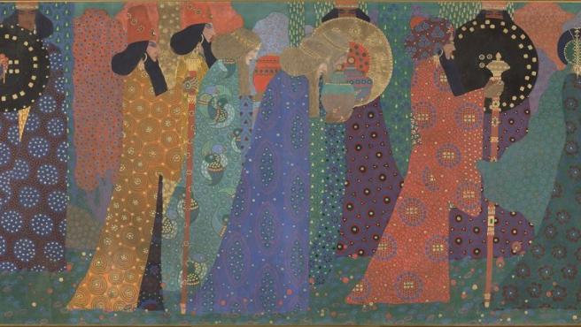 'Las mil y una noches', del pintor 'divisionista' italiano Vittorio Zecchin