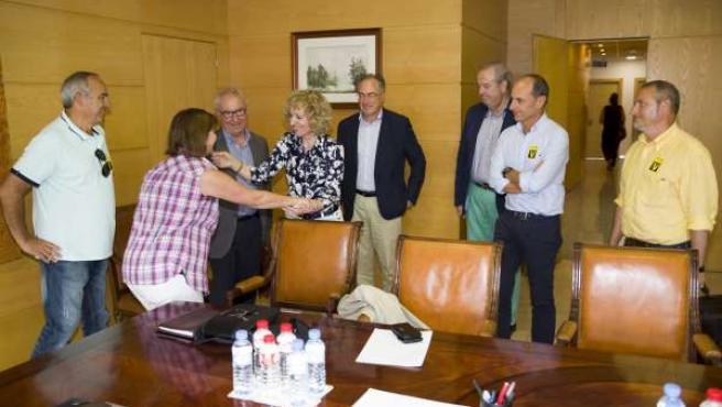 Díaz Tezanos se reúne con afectados por derribos