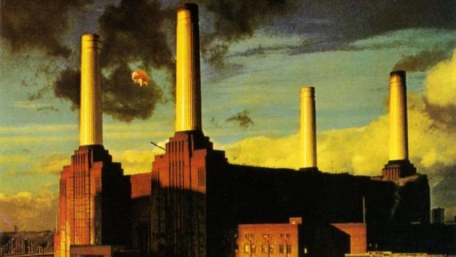 """La central de Battersea en la cubierta de """"Animals"""", el álbum de 1977 de Pink Floyd"""