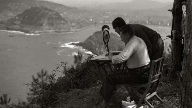 Retransmisión de las regatas de la Concha 1935
