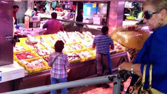 Imagen de un mercado este verano en Madrid.