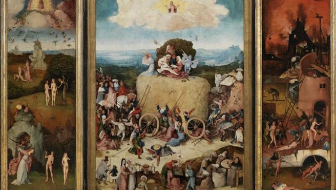 El tríptico abierto 'El carro de heno', de El Bosco