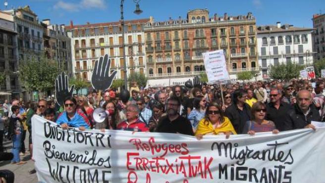 Manifestación en solidaridad con los refugiados