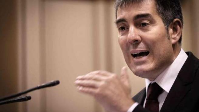 Fernando Clavijo en el discurso de investidura