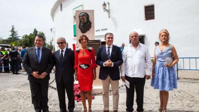 Inauguración de esculturas Welles y Hemingway en Ronda