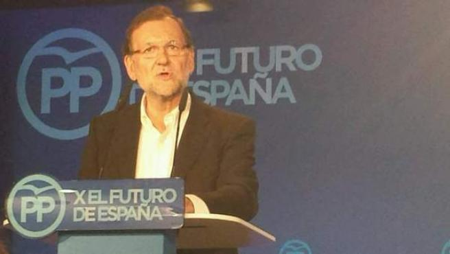 El presidente del Gobierno, Mariano Rajoy, en la clausura de la escuela de verano del PP.