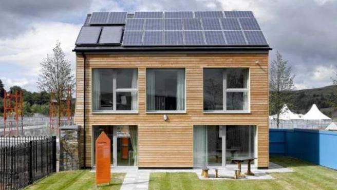 Imagen de una Passivhaus edificada en Reino Unido.