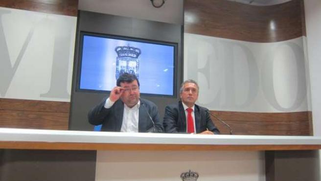 Pacho (izquierda) y Zaragoza, durante la rueda de prensa.