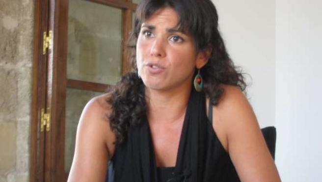 Teresa Rodríguez durante la entrevista