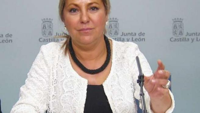 Rosa Valdeón tras el Consejo de Gobierno