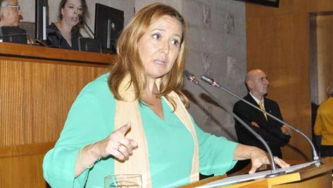 La consejera de Educación, Mayte Pérez