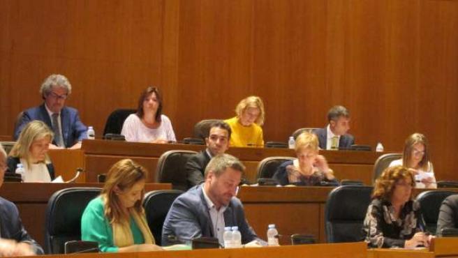 Pleno en las Cortes de Aragón