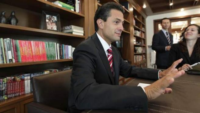 El virtual ganador de las elecciones presidenciales mexicanas por el Partido Revolucionario Institucional (PRI), Enrique Peña Nieto.