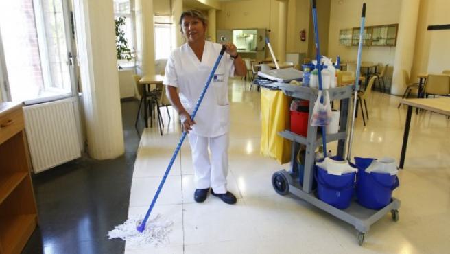 Matilde, empleada de limpieza de 52 años.
