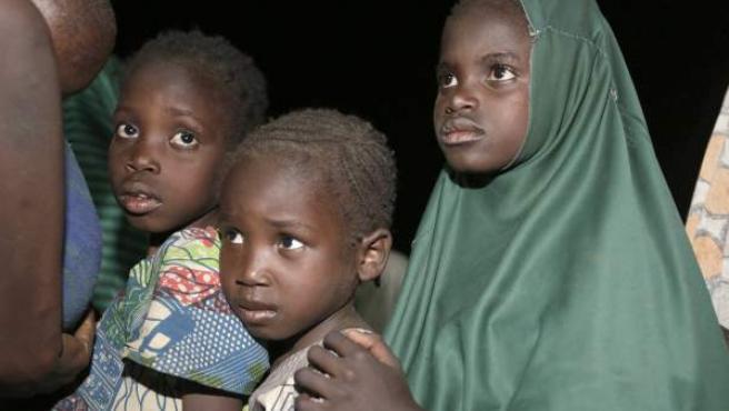 Niños nigerianos de la ciudad de Yola