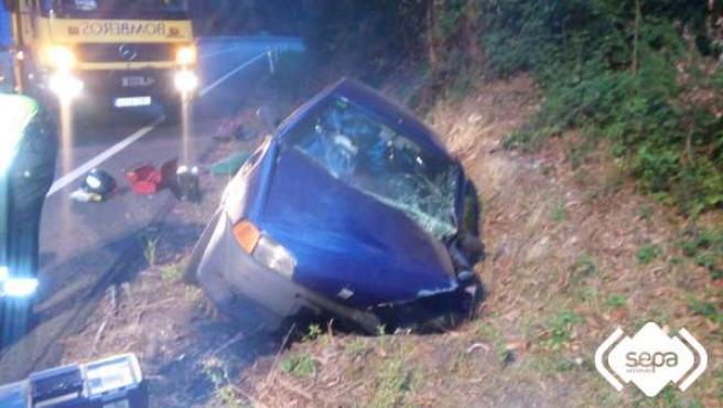 Accidente de tráfico en Santirso de Abres