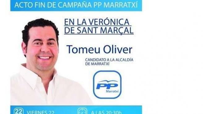 Tweet del PP de Marratxí en campaña