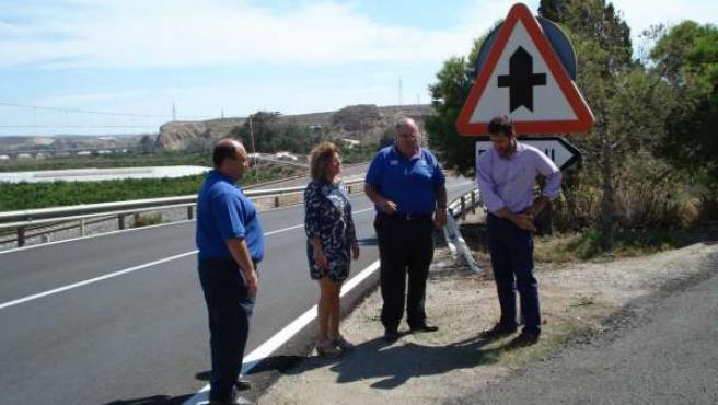 Visita a las obras de mejora de la carretera de Paulenca