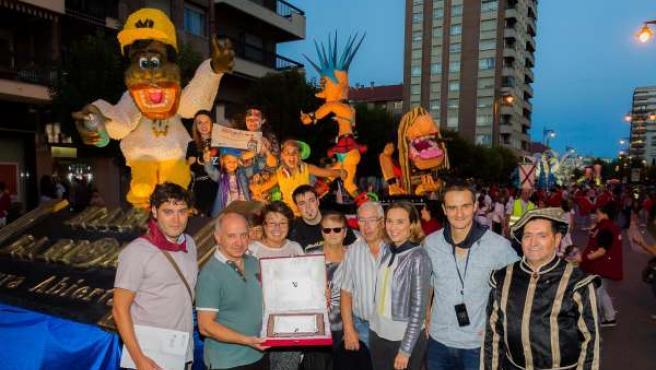 Carroza ganadora del desfile de San Mateo 2015