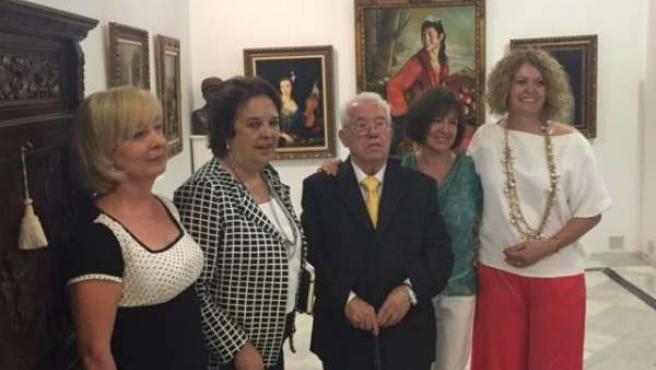 Inauguración de exposición en el centro cívico Las Columnas de Triana (Sevilla)