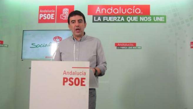 El portavoz del PSOE en el Parlamento andaluz, Mario Jiménez.