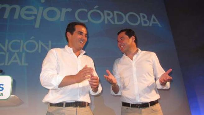 Juanma Moreno con José Antonio Nieto