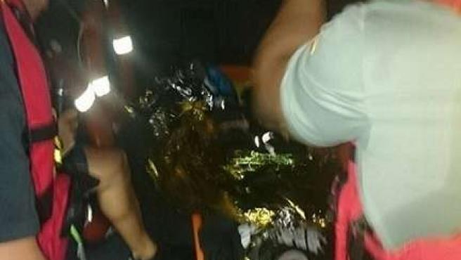 Traslado de persona herida en Melilla