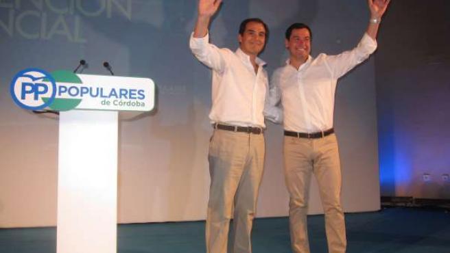 José Antonio Nieto con Juanma Moreno