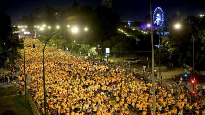 Carrera Nocturna del Guadalquivir celebrada este viernes en Sevilla