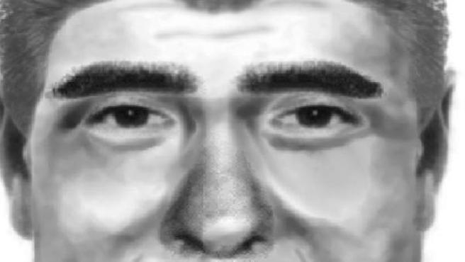 Retrato robot del presunto asesino de Eva Blanco