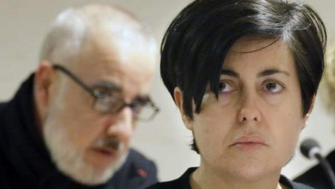 Rosario Porto (d) y Alfonso Basterra (i), los dos principales acusados de la muerte de su hija Asunta Basterra.