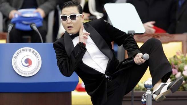 El cantante coreano Psy, en una actuación en febrero de 2013.