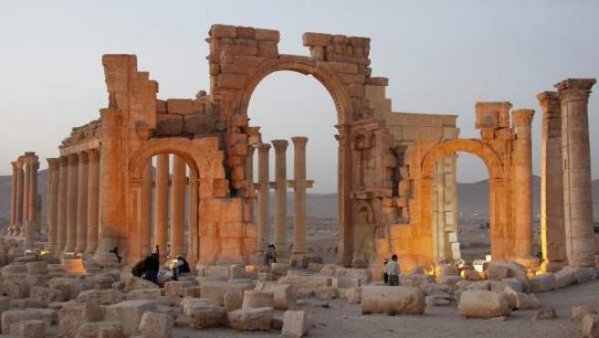 El Arco del Triunfo de Palmira (Siria) en una foto de archivo.