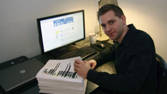 El estudiante Max Schrems, que ha dejado en evidencia a Facebook al descubrir un nuevo agujero en su privacidad.