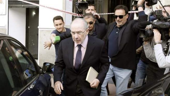 El exvicepresidente del Gobierno Rodrigo Rato, en una imagen de archivo a la salida de su despacho.