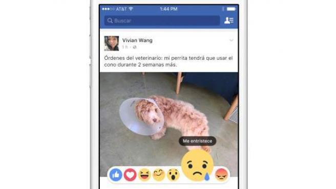 Facebook ha añadido seis reacciones alternativas al conocido 'Me gusta'.