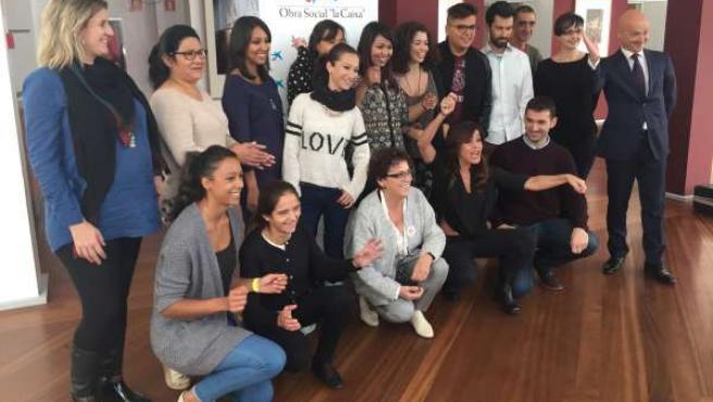 Miembros de la compañía de Blanca Marsillach, de Incorpora y de La Caixa