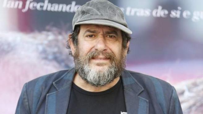 El actor vasco Karra Elejalde, en un acto promocional.