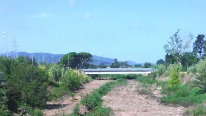 El cauce del río Ridaura tras la adecuación del tramo