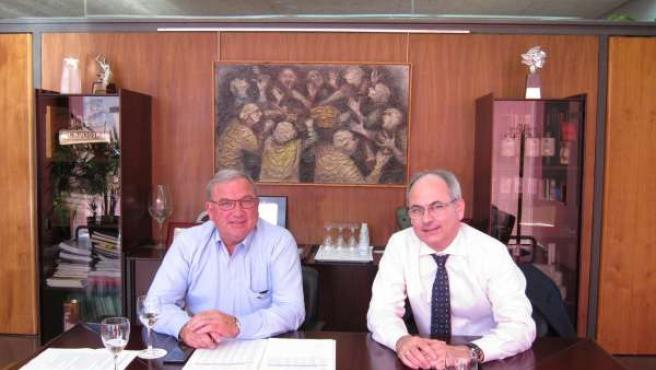 José María Daroca y José Luis Lapuente, presidente y directo DOC Rioja