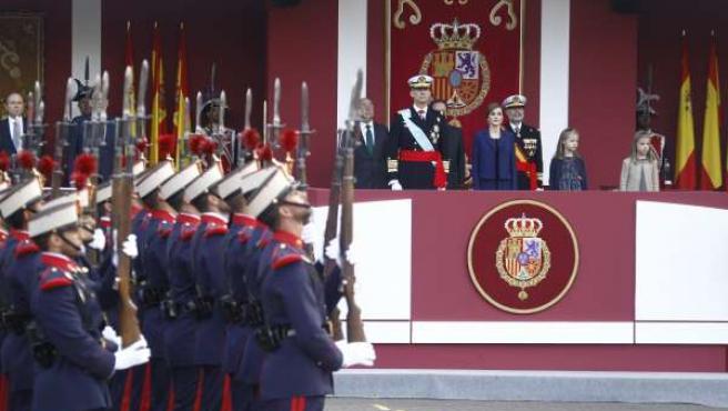 Desfile día de la Hispanidad, 12 de octubre. Reyes. Felipe Vi, Letizia
