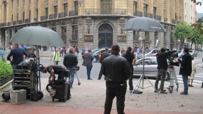 Rodaje en Bilbao de la película 'Plan de fuga'