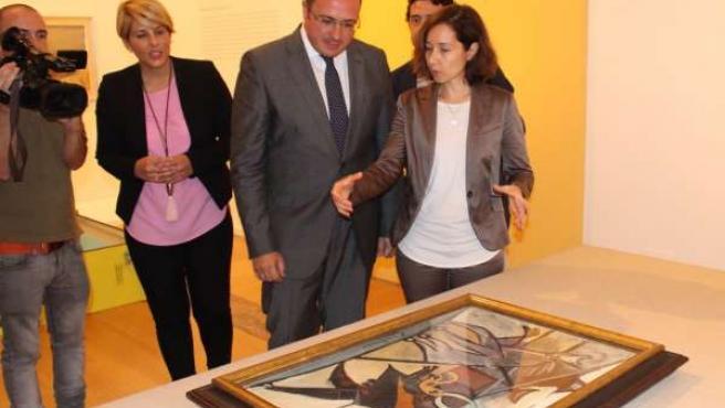 Imagen del inicio de la exposición del cuadro de Picasso