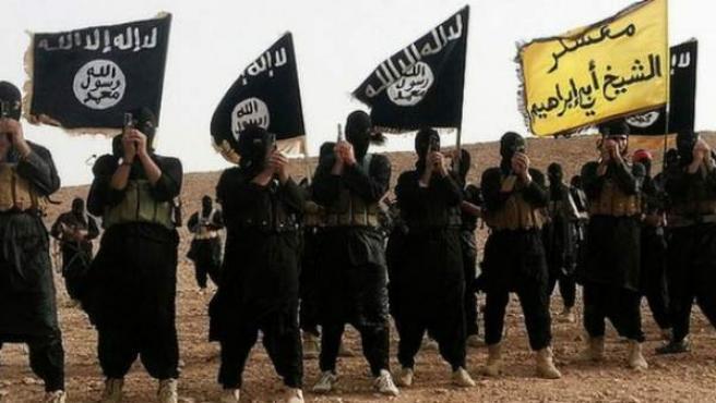 Imagen de los entrenamientos del grupo terrorista yihadista Estado Islámico.
