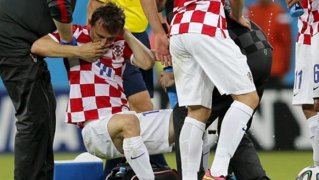 Modric, con su selección.