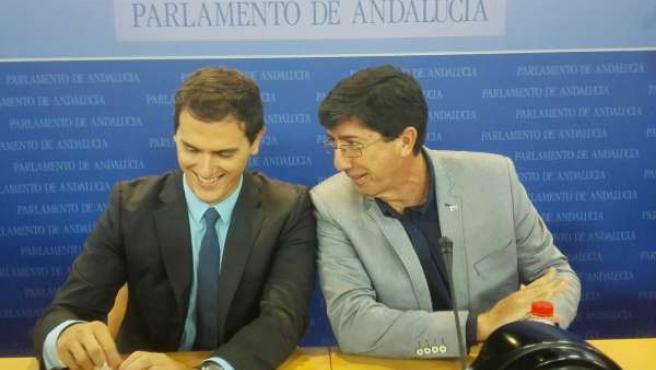 Albert Rivera y Juan Marín
