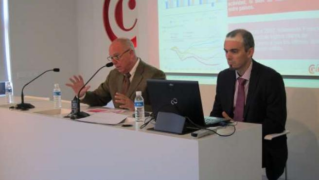 Javier Taberna en la rueda de prensa
