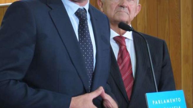 Besteiro y Méndez Romeu en el Parlamento
