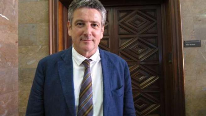 Javier Trivez, en el Ayuntamiento de Zaragoza