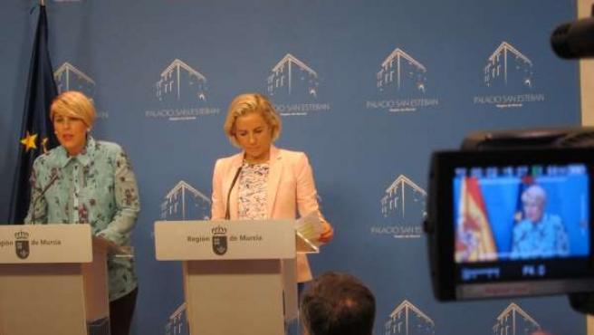 Arroyo y Martínez-Cachá en la rueda de prensa posterior al Consejo de Gobierno